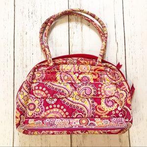 Vera Bradley orange pink floral handbag medium